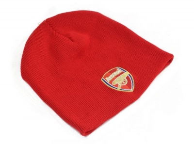 FC Arsenal London Knitted Crest Beanie Hat Red