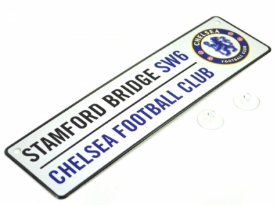 FC Chelsea London 3D Embossed Metal Hanging Street Sign