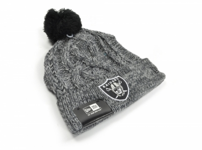 Oakland Raiders Graphite Knitted Hat