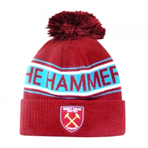 West Ham United Text Cuff Knitted Hat