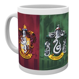Harry Potter Ceramic Mug - Crests Gryffindor, Slytherin, Hufflepuff, Ravenclaw