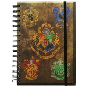 Harry Potter Note Book - Crests A5