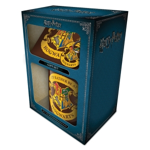 Harry Potter Rather be at Hogwarts Mug Coaster And Keychain Gift Set