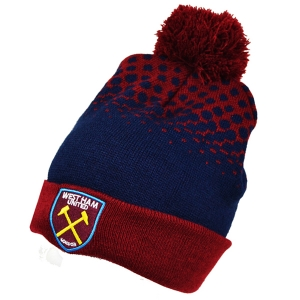 West Ham Cuff Bobble Knitted Hat