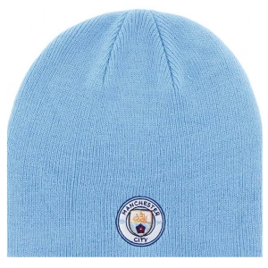 Manchester City Beanie Knitted Hat - Sky Blue