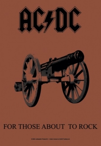 Poster Flag - AC / DC For Those About to Rock We Salute You