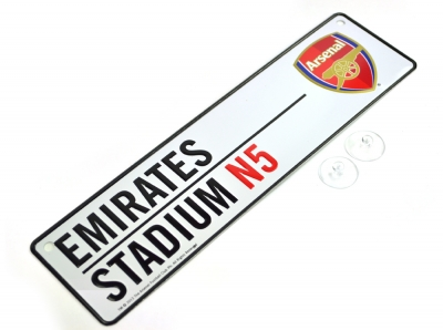 Arsenal 3D Embossed Metal Hanging Street Sign