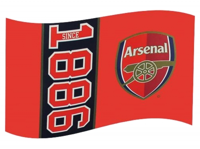 FC Arsenal London Since 1886 Flag 152x91cm (5ft x 3ft)