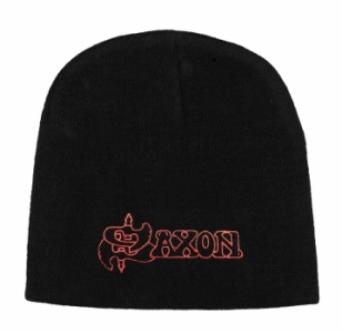 Licensed Merchandise Band Beanie Hat Saxon logo