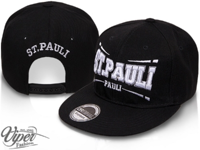 St. Pauli Snapback baseball cap black with adjustable closure