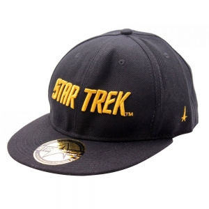 Star Trek Gold Text Logo Baseball Cap (black)