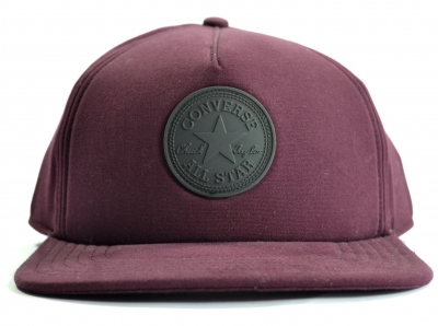 Converse Core Rubber Patch Strap Back Cap Bordeaux Red