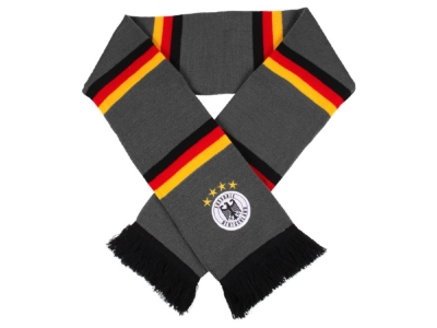 Germany Scarf Gray with stripes in black red gold