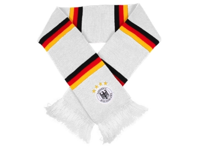 Germany Scarf White with stripes in black red gold