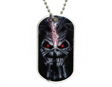 Merchandise Dog Tag - Iron Maiden - Eddie Candle Finger