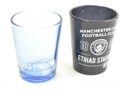 Manchester City 2 Pack Home Team Shot Glass