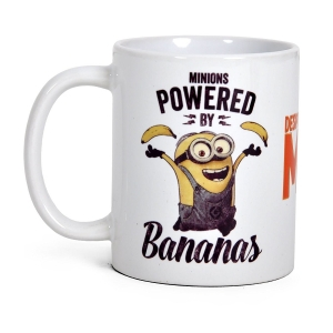 Minions Powered by Bananas offiziell Boxed Mug
