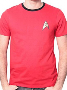 T-Shirt Star Trek Uniform for Men - Red