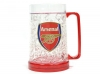 FC Arsenal London beer mug Freezer with Team Crest