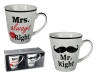 Porcelain Mug, Mr Right & Mrs Always Right, about 10 x 9 cm, set of 2 in gift box with window